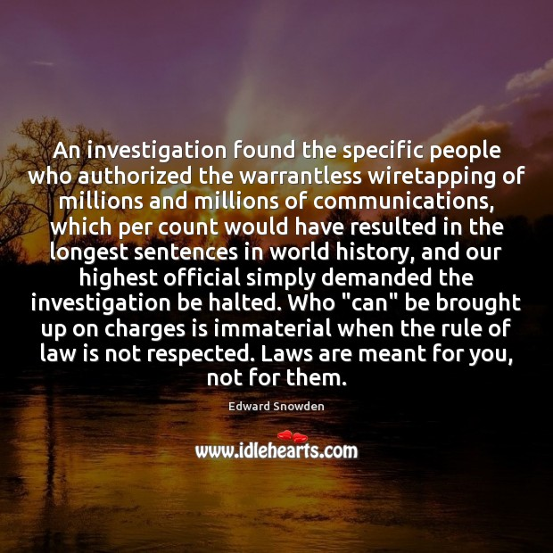 Image, An investigation found the specific people who authorized the warrantless wiretapping of