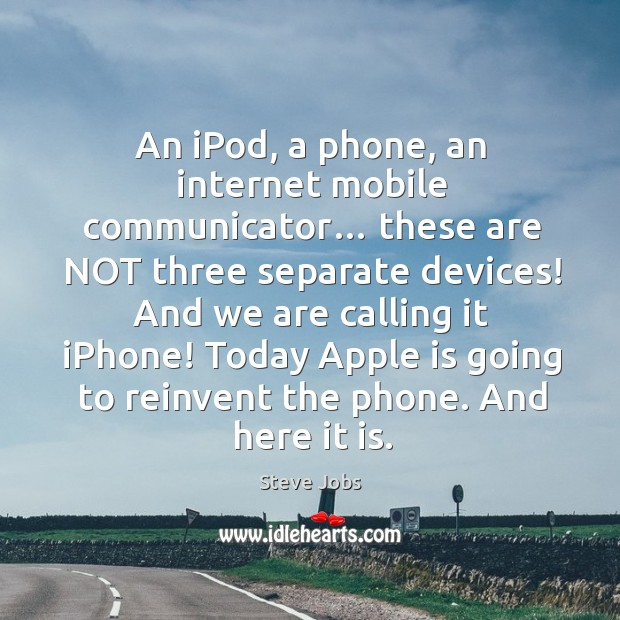An ipod, a phone, an internet mobile communicator… Image