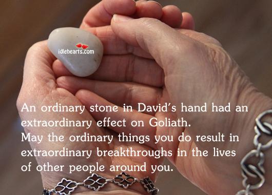 Image, An ordinary stone in david's hand had an