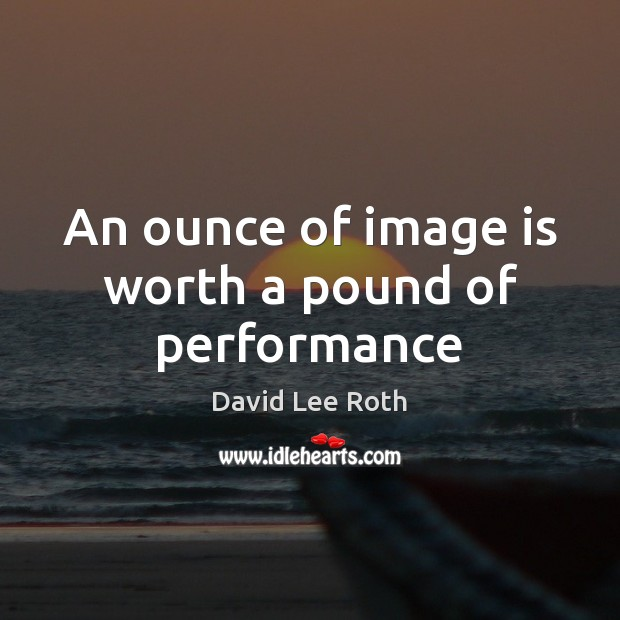 An ounce of image is worth a pound of performance Image