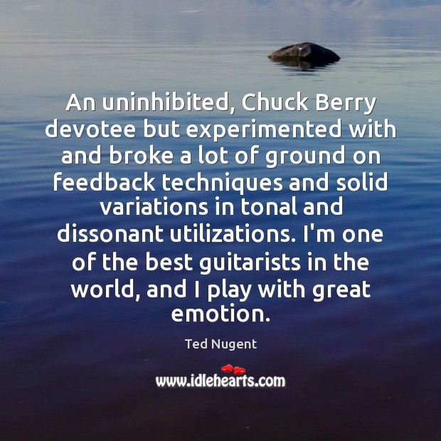 Image, An uninhibited, Chuck Berry devotee but experimented with and broke a lot