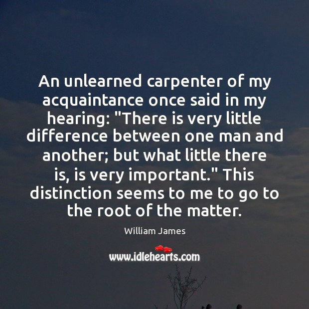"""An unlearned carpenter of my acquaintance once said in my hearing: """"There Image"""