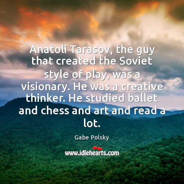 Image, Anatoli Tarasov, the guy that created the Soviet style of play, was