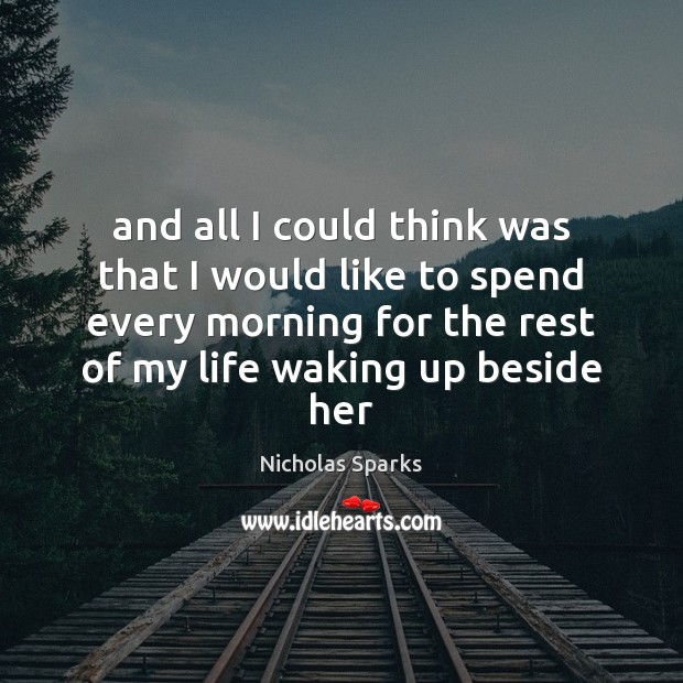Picture Quote by Nicholas Sparks
