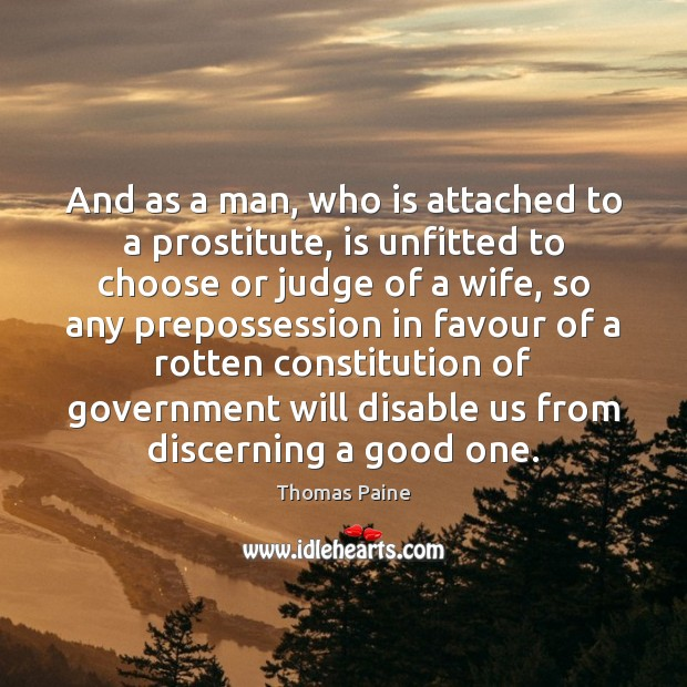 Image, And as a man, who is attached to a prostitute, is unfitted