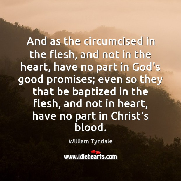 Image, And as the circumcised in the flesh, and not in the heart,