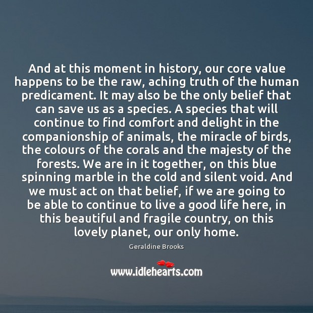 Image, And at this moment in history, our core value happens to be