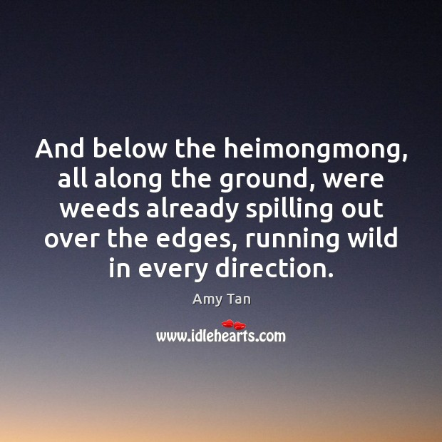 And below the heimongmong, all along the ground, were weeds already spilling Image