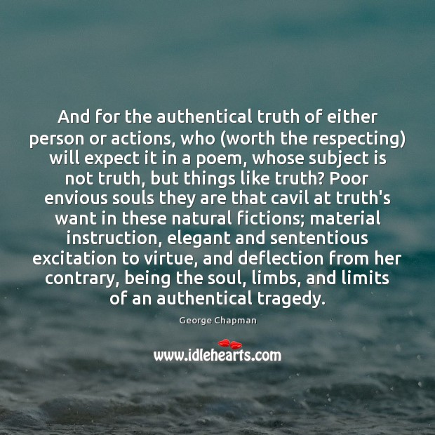 And for the authentical truth of either person or actions, who (worth Image