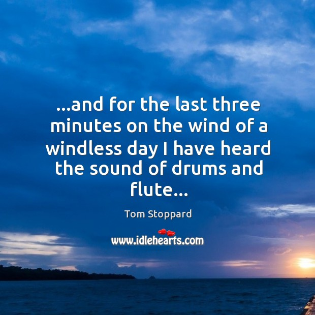 …and for the last three minutes on the wind of a windless Image