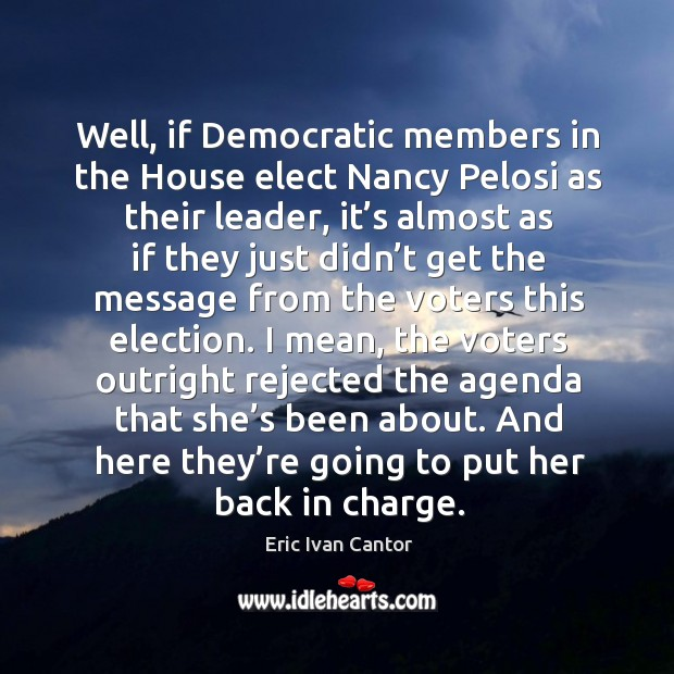 And here they're going to put her back in charge. Image