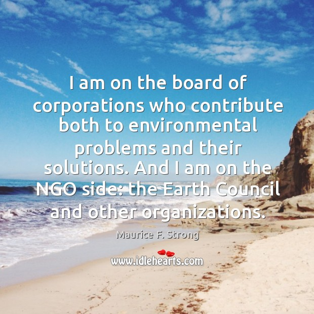 And I am on the ngo side: the earth council and other organizations. Image