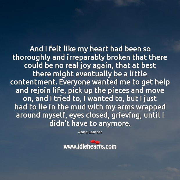 And I felt like my heart had been so thoroughly and irreparably Image