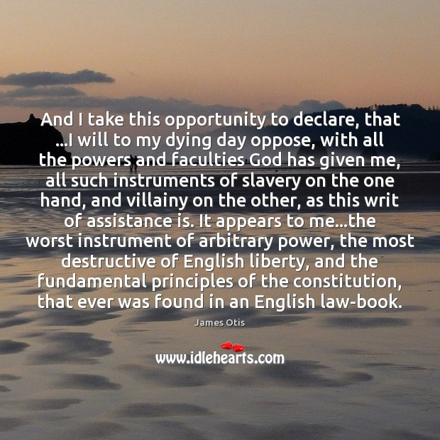 Image, And I take this opportunity to declare, that …I will to my