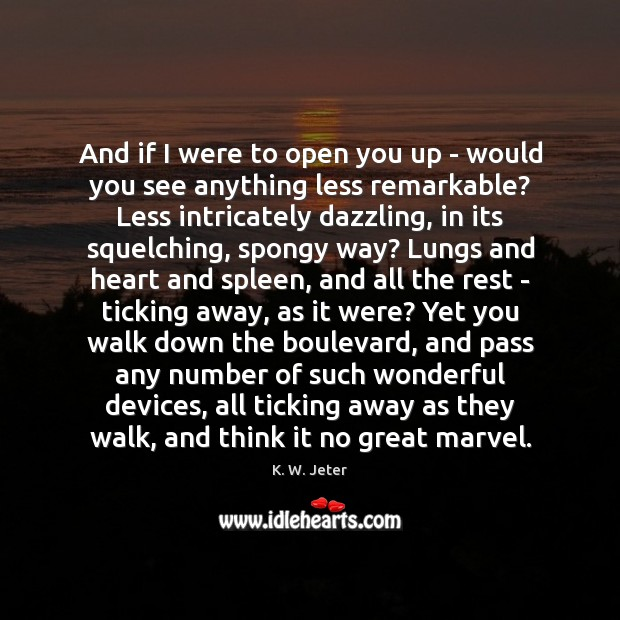And if I were to open you up – would you see Image