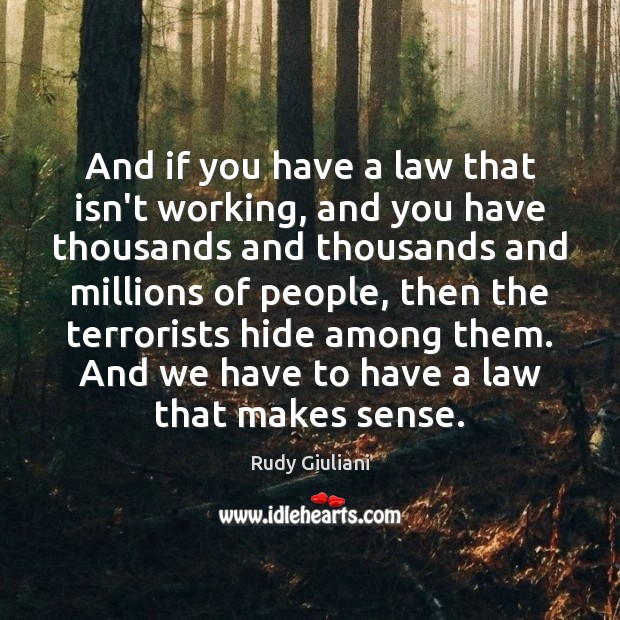 And if you have a law that isn't working, and you have Rudy Giuliani Picture Quote