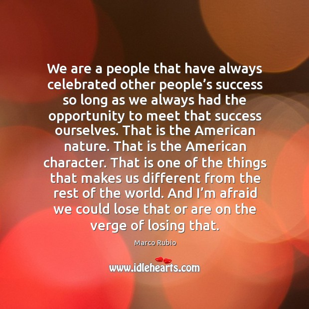 And I'm afraid we could lose that or are on the verge of losing that. Image