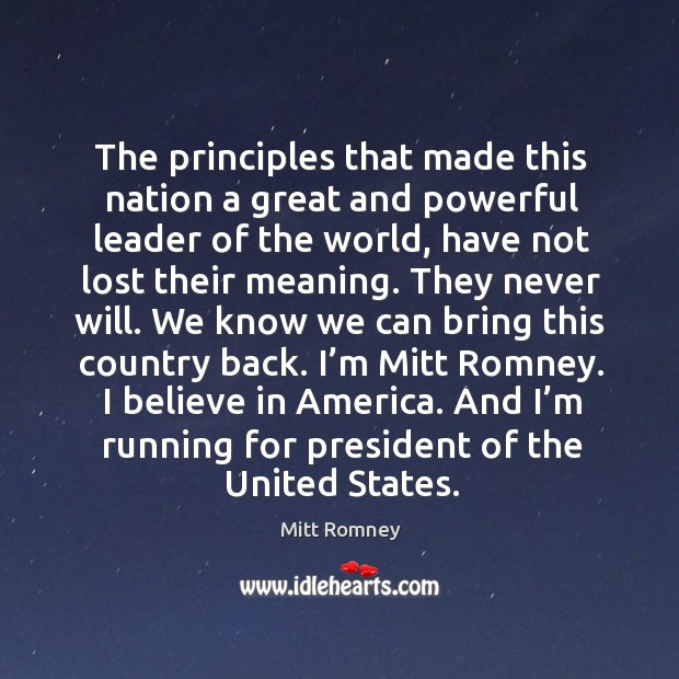 And I'm running for president of the united states. Image