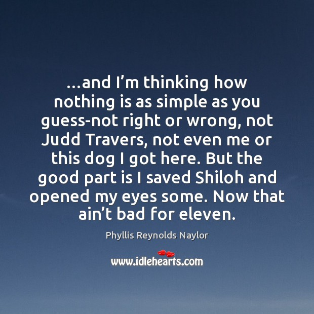 …and I'm thinking how nothing is as simple as you guess-not Image