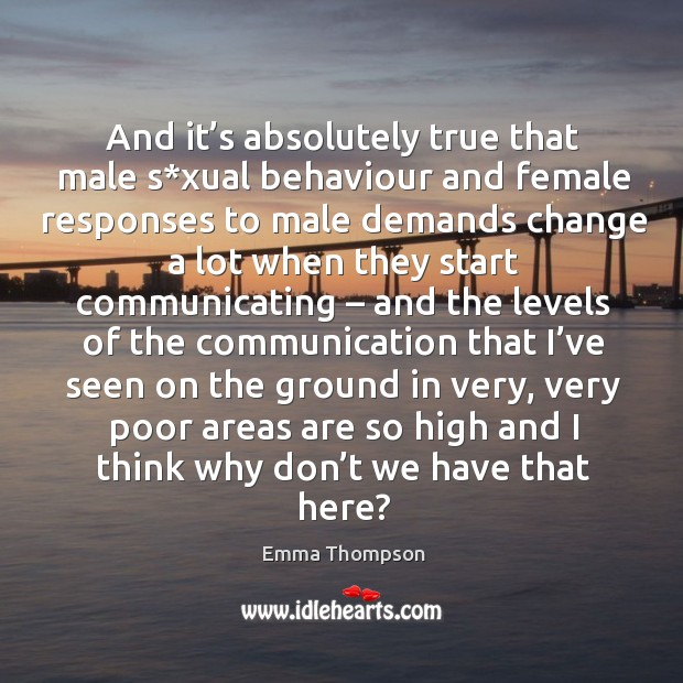 Image, And it's absolutely true that male s*xual behaviour and female responses
