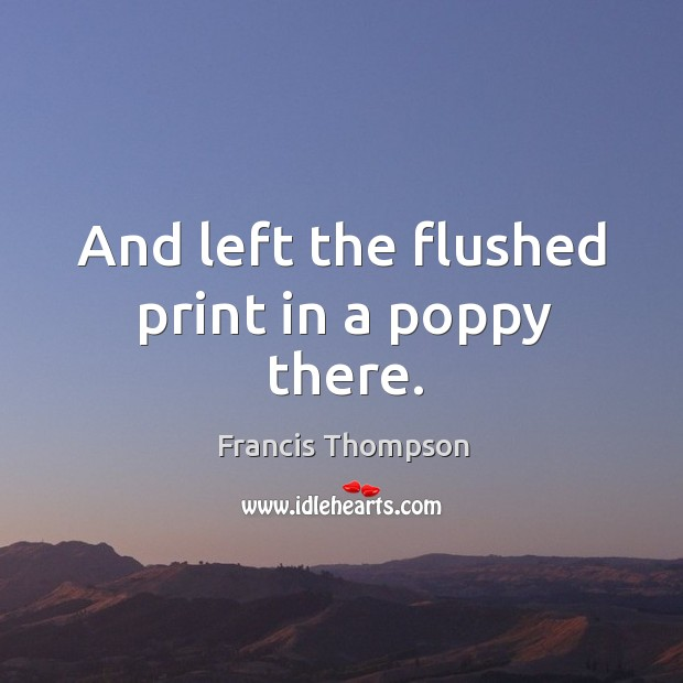 And left the flushed print in a poppy there. Image