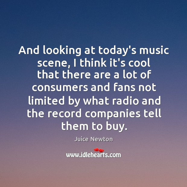 And looking at today's music scene, I think it's cool that there Image