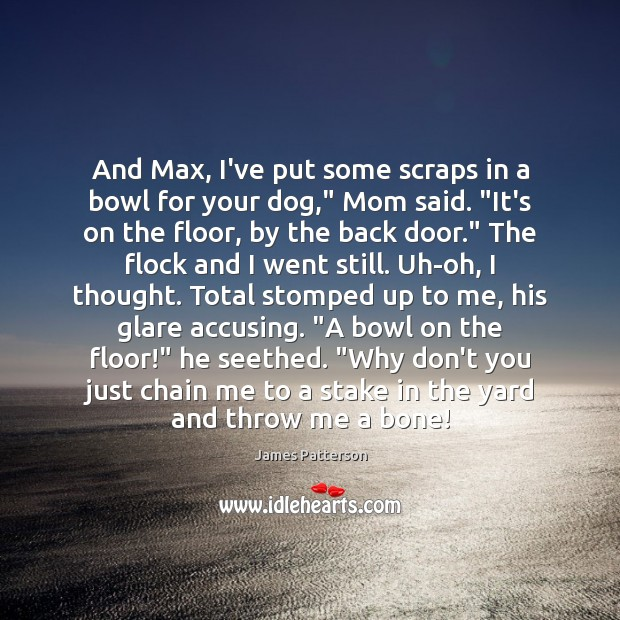 Image, And Max, I've put some scraps in a bowl for your dog,""