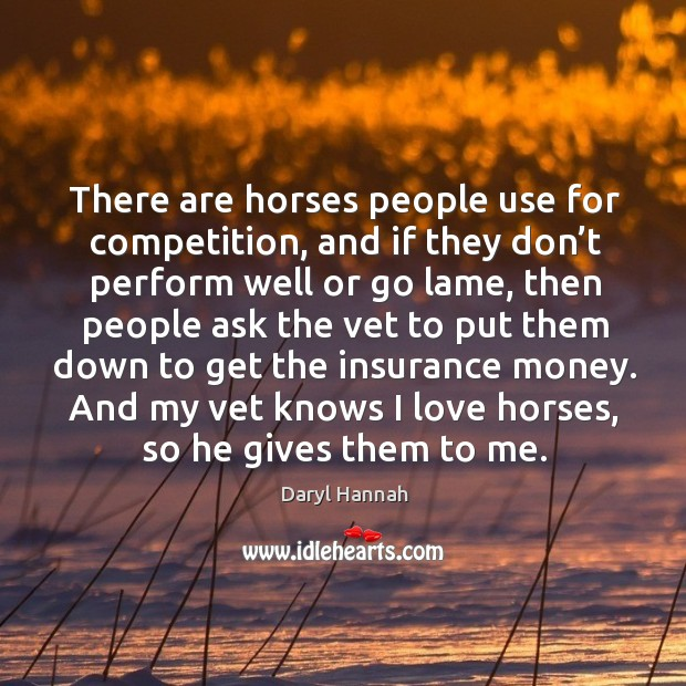 And my vet knows I love horses, so he gives them to me. Image