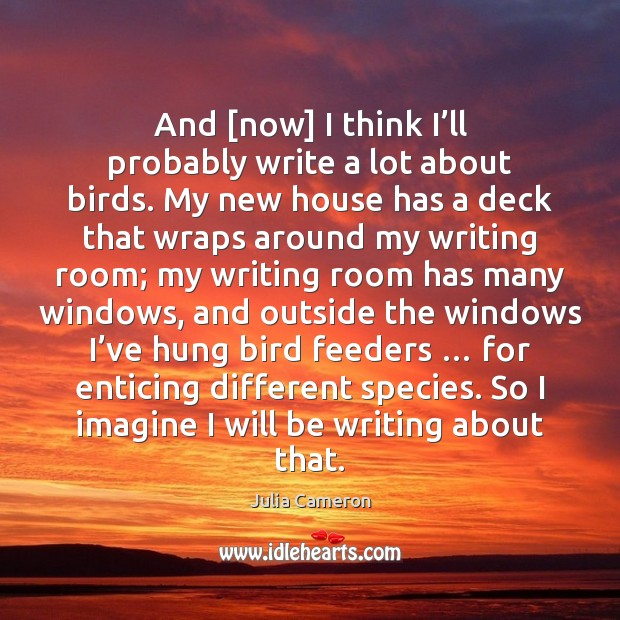 Image, And [now] I think I'll probably write a lot about birds.