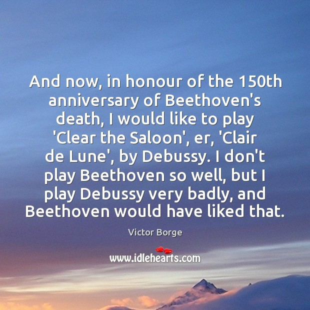 And now, in honour of the 150th anniversary of Beethoven's death, I Image