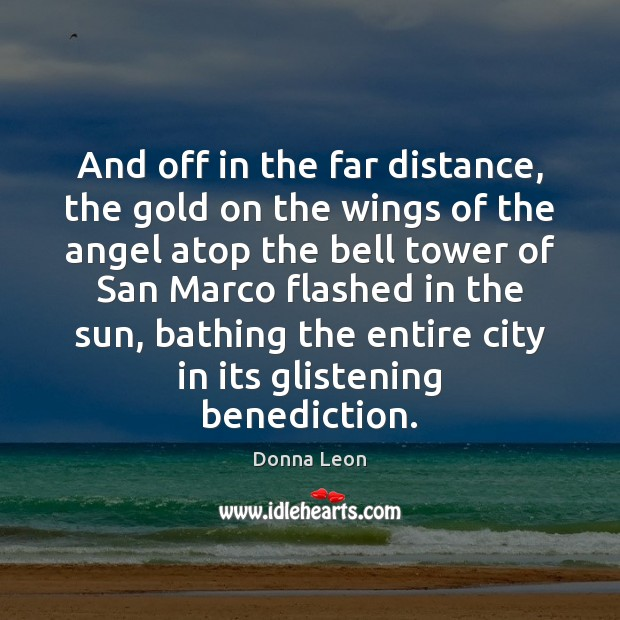 Image, And off in the far distance, the gold on the wings of