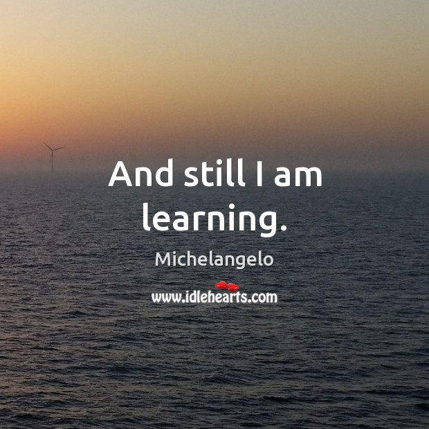 And still I am learning. Michelangelo Picture Quote