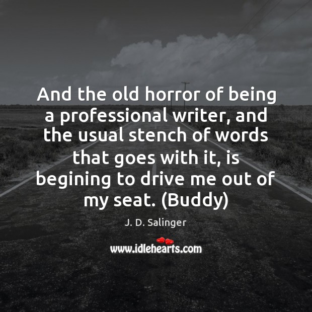 Image, And the old horror of being a professional writer, and the usual