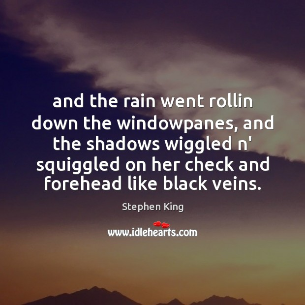 And the rain went rollin down the windowpanes, and the shadows wiggled Image
