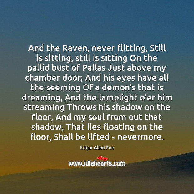 Image, And the Raven, never flitting, Still is sitting, still is sitting On