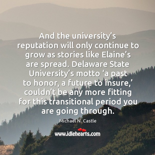 And the university's reputation will only continue to grow as stories like elaine's are spread. Image
