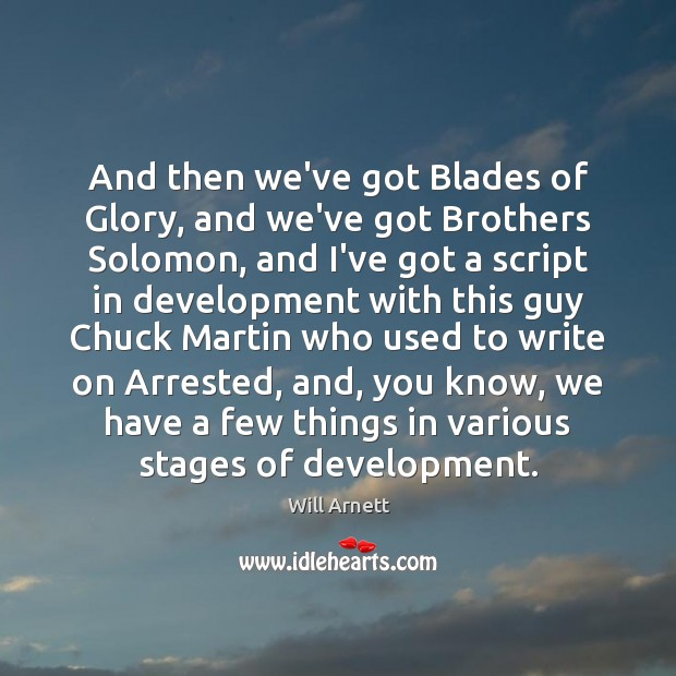 Image, And then we've got Blades of Glory, and we've got Brothers Solomon,