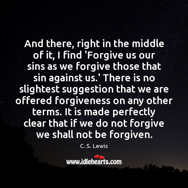 And there, right in the middle of it, I find 'Forgive us Image
