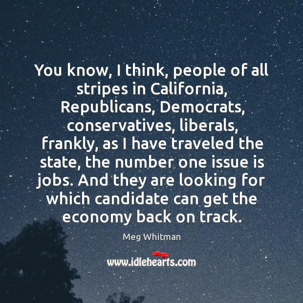 And they are looking for which candidate can get the economy back on track. Image