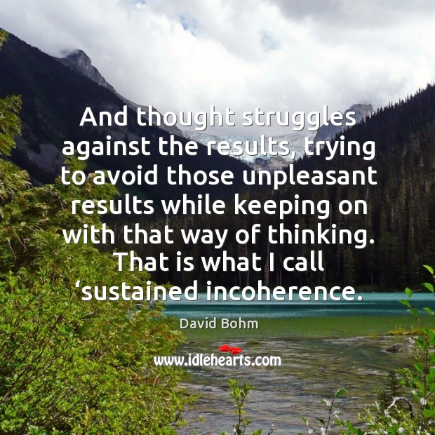 And thought struggles against the results Image