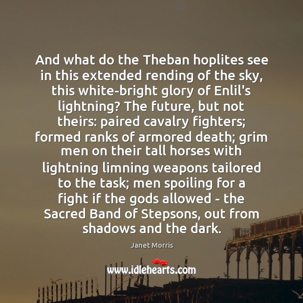 Image, And what do the Theban hoplites see in this extended rending of