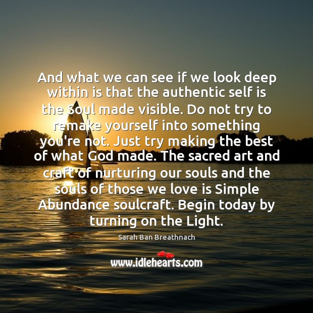 Image, And what we can see if we look deep within is that