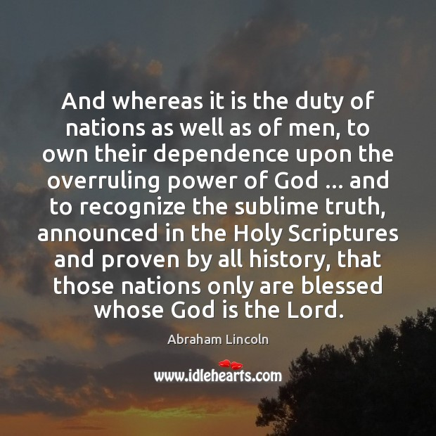 Image, And whereas it is the duty of nations as well as of