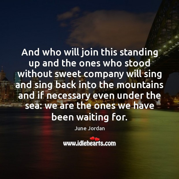Image, And who will join this standing up and the ones who stood