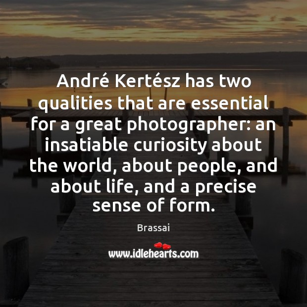 Image, André Kertész has two qualities that are essential for a great