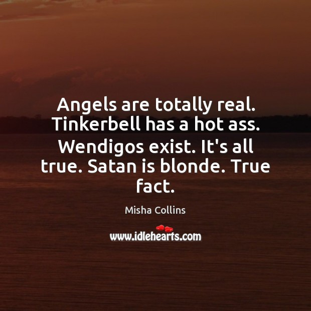 Angels are totally real. Tinkerbell has a hot ass. Wendigos exist. It's Image