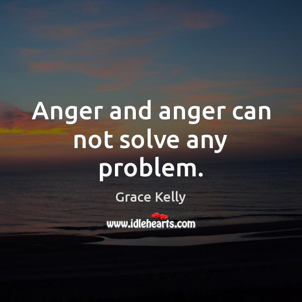Image, Anger and anger can not solve any problem.