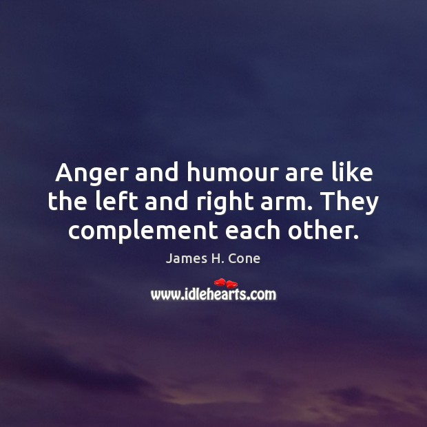 Image, Anger and humour are like the left and right arm. They complement each other.
