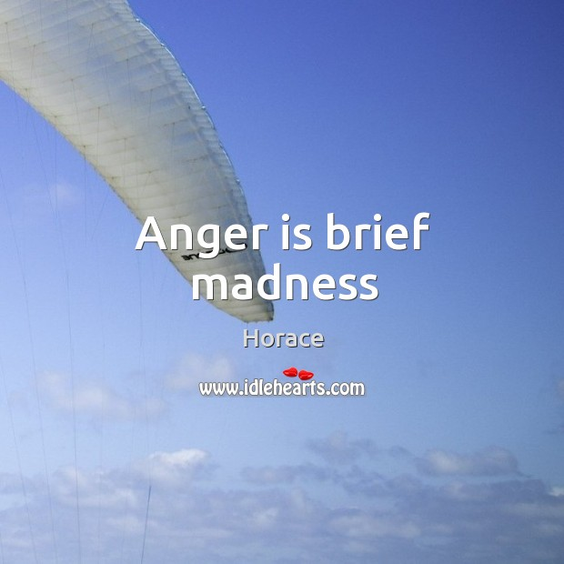Anger is brief madness Image