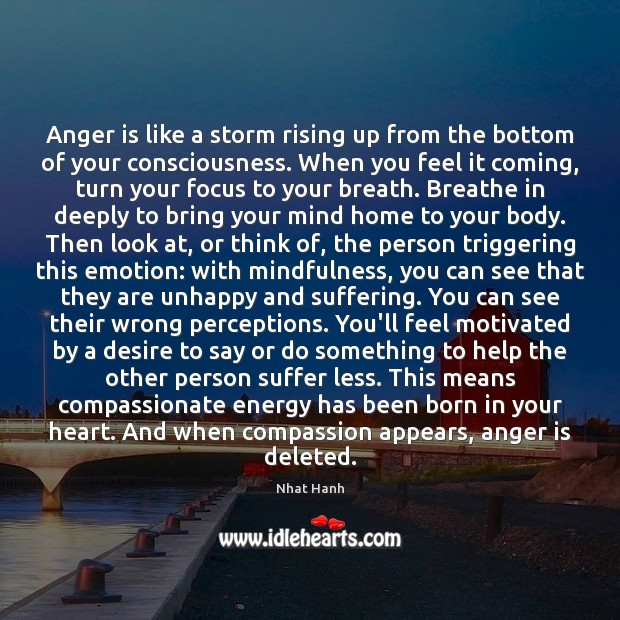 Image, Anger is like a storm rising up from the bottom of your
